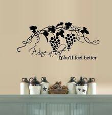 Wine A Bit You Ll Feel Better Quote Letter Wall Sticker Decal Dinning Decor For Sale Online Ebay