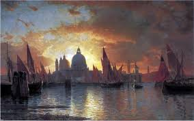 William Stanley Haseltine Santa Maria Della Salute Sunset Wall Decal Beach Style Wall Decals By Art Megamart