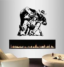 Wall Vinyl Decal Home Decor Art Sticker Rodeo Bull Rider Cowboy Western Sport Boy Man Any Room Removable Stylish Mural Unique Design 176 Amazon Com