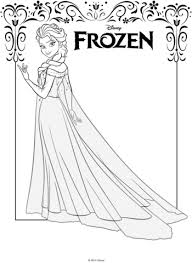 dibujo de elsa de frozen para colorear