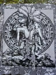 mexican blanket mayan sacrifice scene