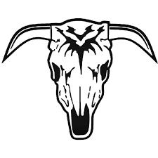 Longhorn Cattle Skull 2 Vinyl Decal Sticker