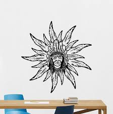 Native American Wall Decal Indian Chief Bedroom Decor Vinyl Sticker Mural 324xxx Ebay
