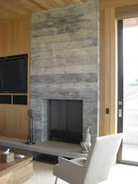 gas fireplace reclaimed wood