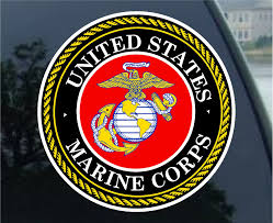 Amazon Com U S Marine Corps Car Decal Sticker Automotive