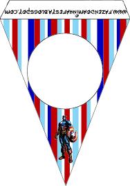 Capitan America Imprimibles Gratis Para Fiestas Imprimibles