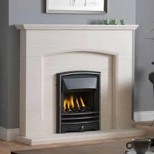 limestone fireplace suite