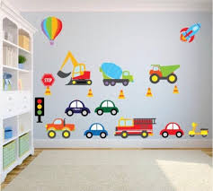 Traffic Theme Kids Wall Decals Car Kids Wall Stickers Fire Etsy