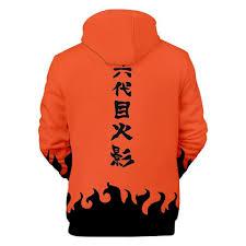 Minato Namikaze 4th Hokage Orange Uniform - Naruto Hoodie Minato ...
