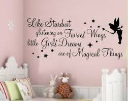 Fairy Wall Art Stickers Quotes Girls Nursery Bedroom Decals Phrases Stardust Ebay