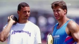 Dan O'Brien & Dave Johnson Recall Hype Around '92 Olympics - YouTube