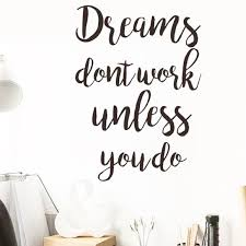 Tres Chic Et Unique Boutique Wall Art New Wall Decal Dreams Dont Work Unless You Do Poshmark