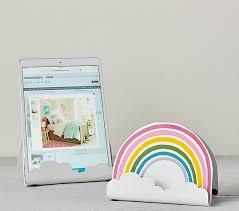 Rainbow Tablet Stand Kids Room Decor Pottery Barn Kids