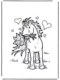Valentijn Paard Kleurplaten Valentijnsdag