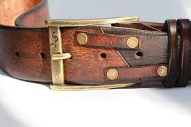 custom leather belts brown leather belt