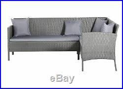 argos home 8 seater rattan corner sofa