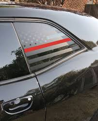 American Flag Quarter Window Decal 2008 18 Dodge Challenger Elevated Auto Styling