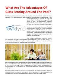 What Are The Advantages Of Glass Fencing Around The Pool By Fencingsupplies Issuu