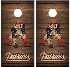Patriots Throwback Vintage Wood Cornhole Board Decal Wrap Wraps Brown Ebay
