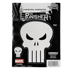 Chroma Punisher Sticker With The Punisher Skull Symbol Punisher Decals For Car By Goso Direct
