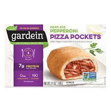meatless vegan pizza pockets gardein