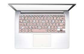 Rose Gold Unicorns Laptop Keyboard Stickers Keyshorts