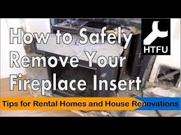 fireplace insert how to carefully