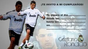 Invitaciones Para Cumpleanos De Cristiano Ronaldo Invitaciones