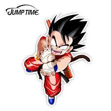 Jumptime 13cm X 9 4cm Dragon Ball Kid Goku K Vs Kpo Anime Car Sticker Rear Windshield Decal Waterproof Car Accessories Window Car Stickers Aliexpress