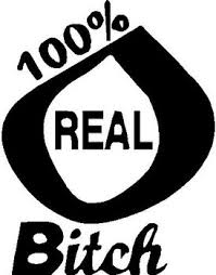 100 Real Bitch Vinyl Decal Sticker