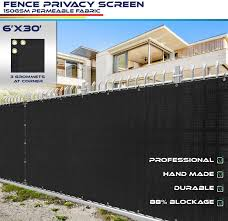 Amazon Com 6 X 30 Privacy Fence Screen In Black With Brass Grommet 85 Blockage Windscreen Outdoor Mesh Fencing Cover Netting 150gsm Fabric Custom Size Garden Outdoor