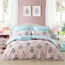 pink gray and light blue cute penguin