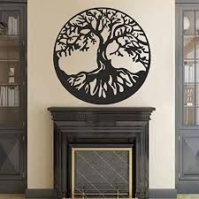 Amazon Com Battoo Tree Of Life Vinyl Wall Decal Sticker Celtic Tree Life Wall D Cor Culture Symbol Office Living Room Yoga Studio Wall Decoration 32 H X32 W Black Home Kitchen