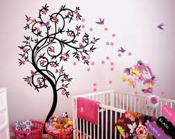 Cherry Blossom Tree Wall Decal Flower Tree Nursery Vinyl Decor Kr040 Studioquee On Artfire
