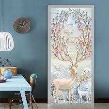 3d Animals Door Wall Sticker Pvc Art Decal Home Decor Kids Room Mural Decoration Ebay