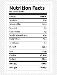 nutrition facts label hemp protein