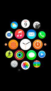خلفيات ساعة ابل الذكية عالية الدقة للايفون لون أسود مدونة