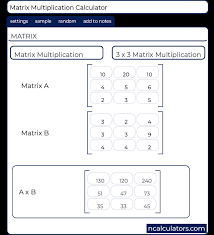 3x3 matrix multiplication calculator