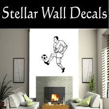 Soccer Futball Running Kicking Kick Score Goal Goalie Players Cds056 Sports Vinyl Wall Decal Wall Mural