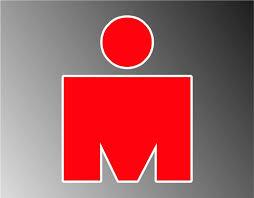 Amazon Com Red Mdot Ironman Triathlon Vinyl Decal Bumper Sticker 3 2 Pack Automotive