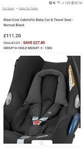 maxi cosi baby car seat group 0 gumtree