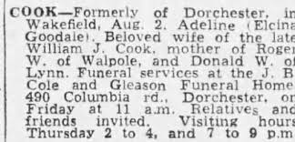 Obituary for Adeline COOK - Newspapers.com