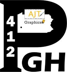 Pittsburgh Pa 412 Logo Vinyl Car Decal Laptop Decal Etsy