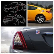 Usa Flag Metal Auto Refitting Car Badge Emblem Decal Sticker Sale Banggood Com