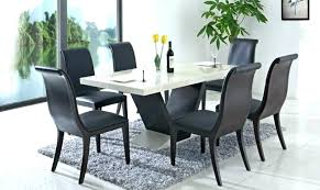 dining table and white leather chairs