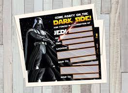12 Star Wars Darth Vader Invitaciones De Cumpleanos 12 5 X 7in