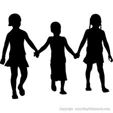 Kids Holding Hands Silhouette Decal Children S Decor