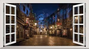 Magic Window Harry Potter Hedwig Hogwarts Wall Art Self Adhesive Sticker Graphic