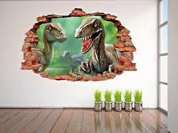 Dinosaur 3d Wall Decal Bedroom Or Living Room Wall Paper Sticker J350 Ebay