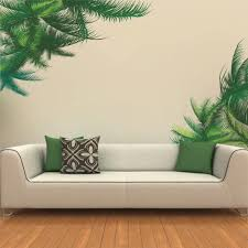 Amazon Com Dnven Diy Green Leaves Branches Tree Decorative Mural Decal Art Vinyl Wall Sticker Wallpaper For Living Room Bedrooms Arts Crafts Sewing